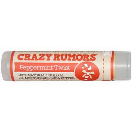 Crazy Rumors, 100% Natural Lip Balm, Peppermint Twist 4.4ml