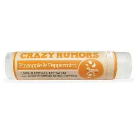 Crazy Rumors, 100% Natural Lip Balm, Pineapple&Peppermint 4.4ml