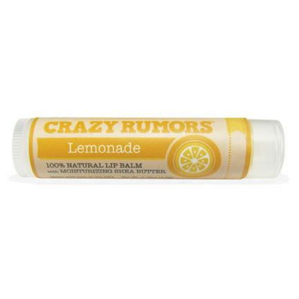 Crazy Rumors, 100% Natural Lip Balm, Lemonade 4.4ml