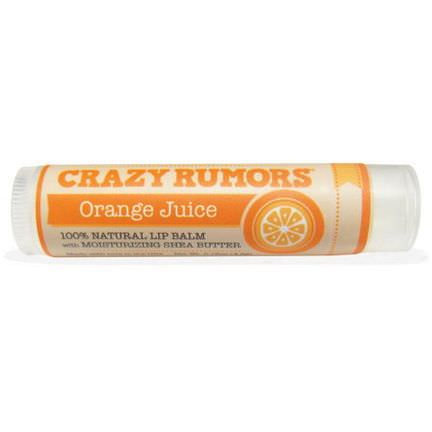 Crazy Rumors, 100% Natural Lip Balm, Orange Juice 4.4ml