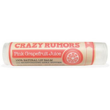 Crazy Rumors, 100% Natural Lip Balm, Pink Grapefruit Juice 4.4ml