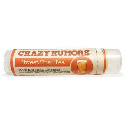 Crazy Rumors, 100% Natural Lip Balm, Sweet Thai Tea 4.4ml