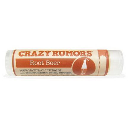 Crazy Rumors, 100% Natual Lip Balm, Root Beer 4.4ml