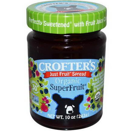Crofter's Organic, Organic, Just Fruit Spread, Superfruit 283g