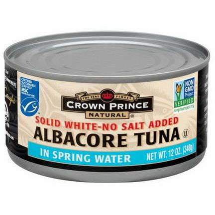 Crown Prince Natural, Albacore Tuna, Solid White-No Salt Added 340g