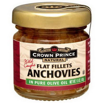 Crown Prince Natural, Anchovies, Flat Fillets, In Pure Olive Oil 43g