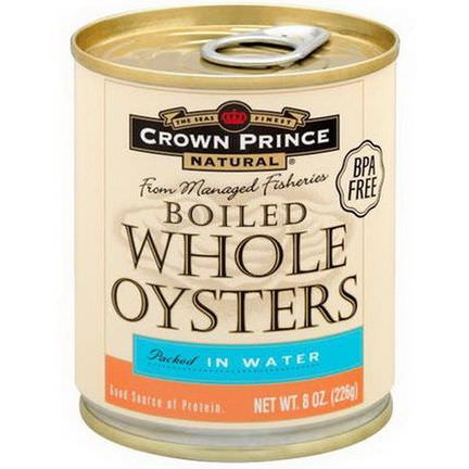 Crown Prince Natural, Boiled Whole Oysters, Packed In Water 226g