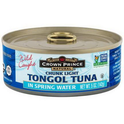 Crown Prince Natural, Chunk Light Tongol Tuna, In Spring Water 142g