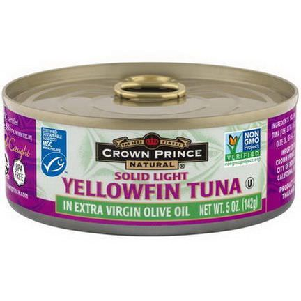 Crown Prince Natural, Solid Light Yellowfin Tuna, In Extra Virgin Olive Oil 142g