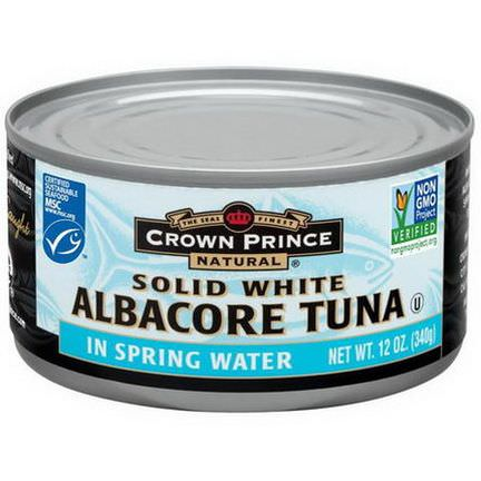 Crown Prince Natural, Solid White Albacore Tuna, In Spring Water 340g