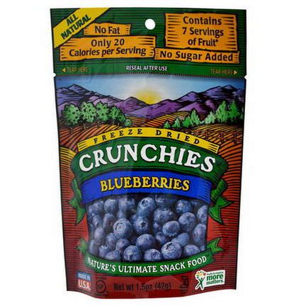 Crunchies Food Company, Blueberries, Freeze Dried 42g