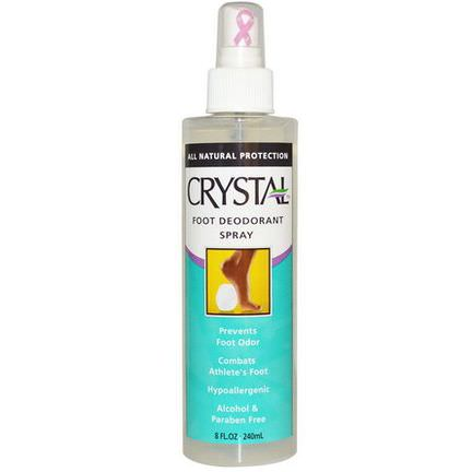 Crystal Body Deodorant, Crystal Foot Deodorant Spray 240ml