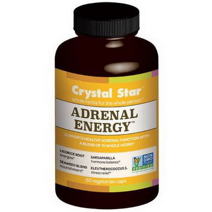 Crystal Star, Adrenal Energy, 60 Veggie Caps