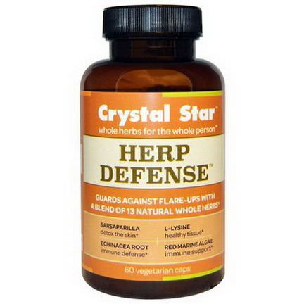 Crystal Star, Herp Defense, 60 Veggie Caps
