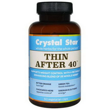 Crystal Star, Thin After 40, 60 Veggie Caps