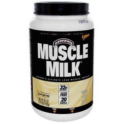 Cytosport, Inc, Genuine Muscle Milk, Lean Muscle Protein, Cake Batter 1120g
