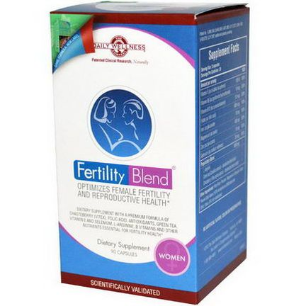 Daily Wellness Company, Fertility Blend for Women, 90 Capsules