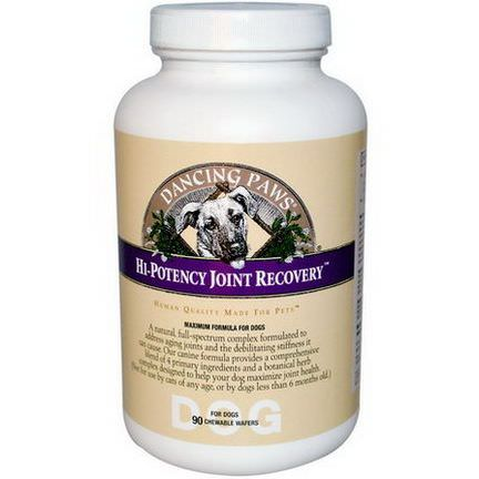 Dancing Paws, Hi-Potency Joint Recovery For Dogs, 90 Chewable Wafers