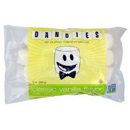 Dandies, Air-Puffed Marshmallows, Classic Vanilla Flavor 283g