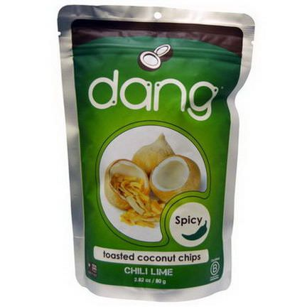 Dang Foods LLC, Toasted Coconut Chips, Chili Lime 80g