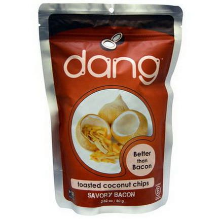 Dang Foods LLC, Toasted Coconut Chips, Savory Bacon 80g