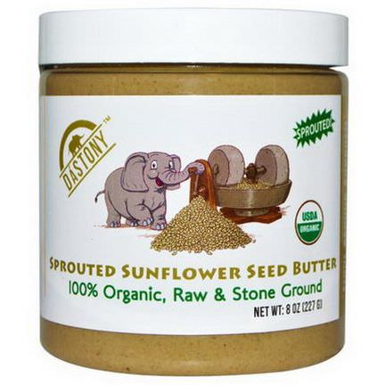 Dastony, 100% Organic Sprouted Sunflower Seed Butter 227g