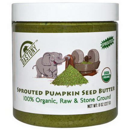 Dastony, Sprouted Pumpkin Seed Butter, 100% Organic 227g