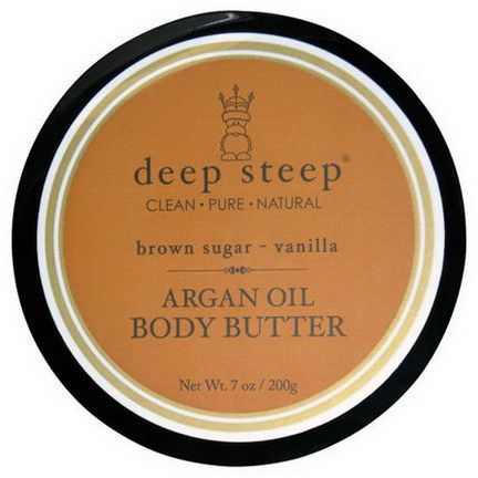 Deep Steep, Argan Oil Body Butter, Brown Sugar Vanilla 200g