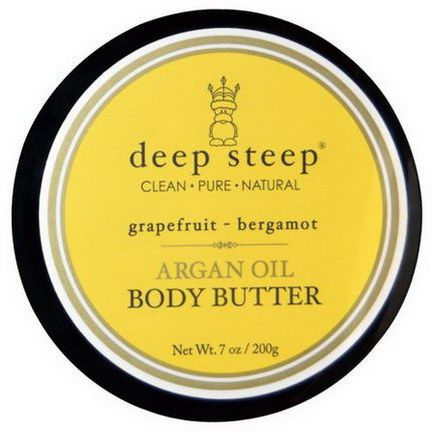 Deep Steep, Argan Oil Body Butter, Grapefruit Bergamot 200g