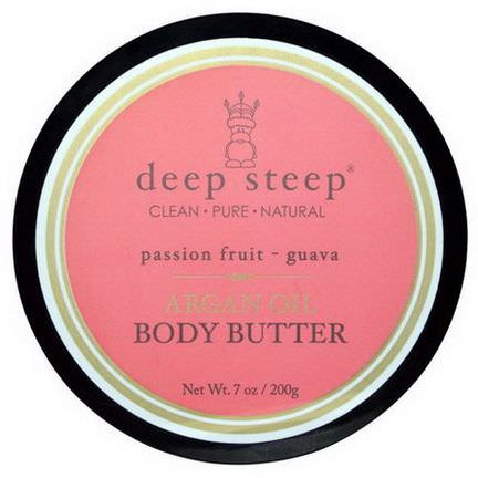 Deep Steep, Argan Oil Body Butter, Passion Fruit Guava 200g