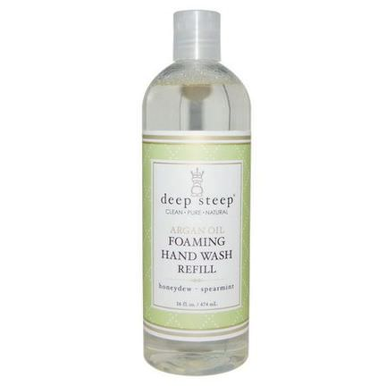 Deep Steep, Argan Oil Foaming Hand Wash Refill, Honeydew - Spearmint 474ml