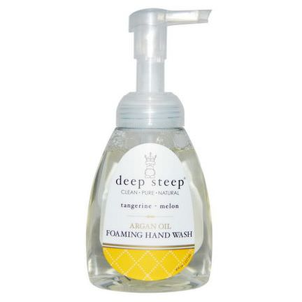 Deep Steep, Argan Oil Foaming Hand Wash, Tangerine - Melon 237ml
