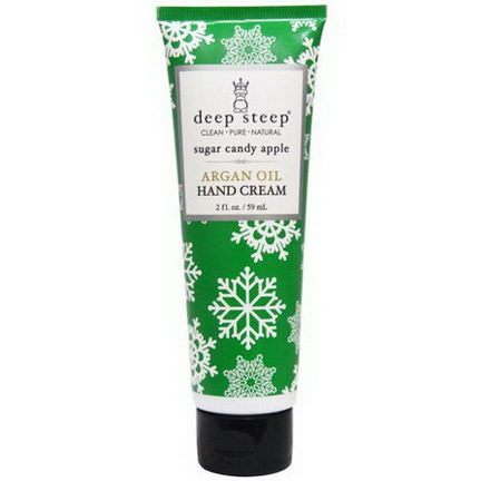 Deep Steep, Argan Oil Hand Cream, Sugar Candy Apple 59ml