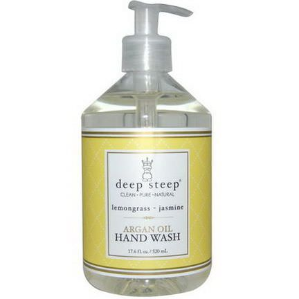 Deep Steep, Argan Oil Hand Wash, Lemongrass-Jasmine 520ml