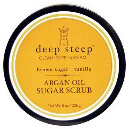 Deep Steep, Argan Oil Sugar Scrub, Brown Sugar - Vanilla 226g