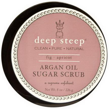 Deep Steep, Argan Oil Sugar Scrub, Fig - Apricot 226g