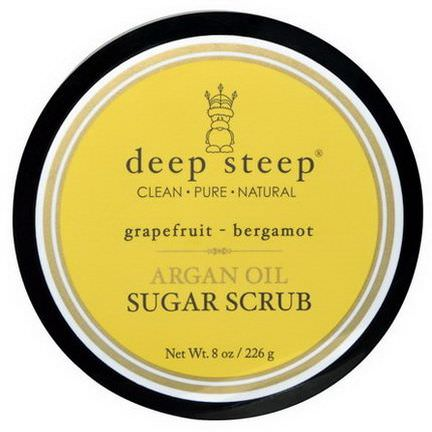 Deep Steep, Argan Oil Sugar Scrub, Grapefruit Bergamot 226g
