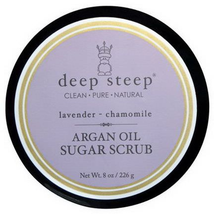 Deep Steep, Argan Oil Sugar Scrub, Lavender Chamomile 226g