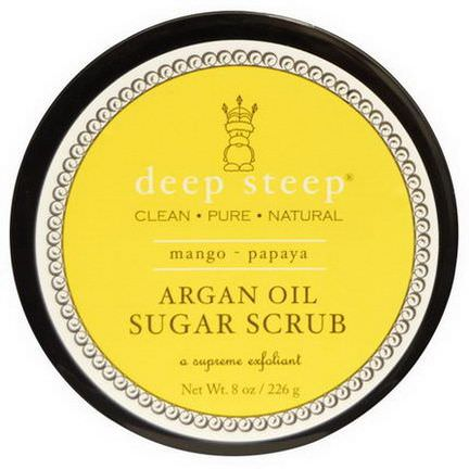 Deep Steep, Argan Oil Sugar Scrub, Mango - Papaya 226g