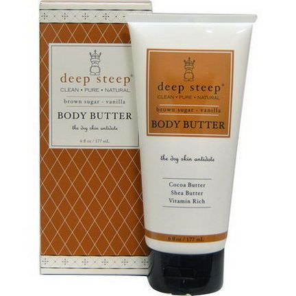 Deep Steep, Body Butter, Brown Sugar-Vanilla 177ml