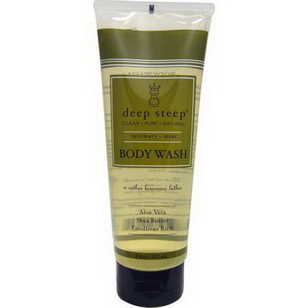 Deep Steep, Body Wash, Rosemary - Mint 237ml