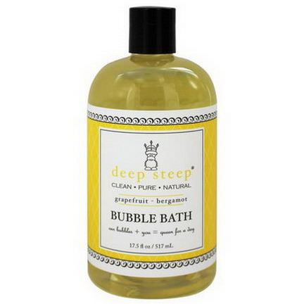 Deep Steep, Bubble Bath, Grapefruit - Bergamot 517ml