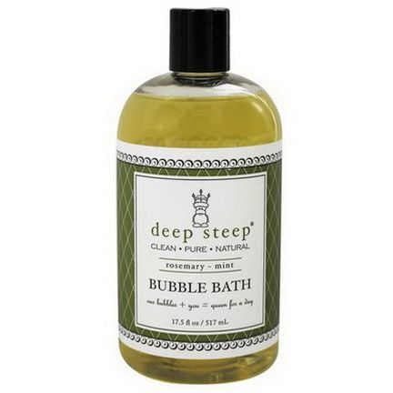 Deep Steep, Bubble Bath, Rosemary - Mint 517ml