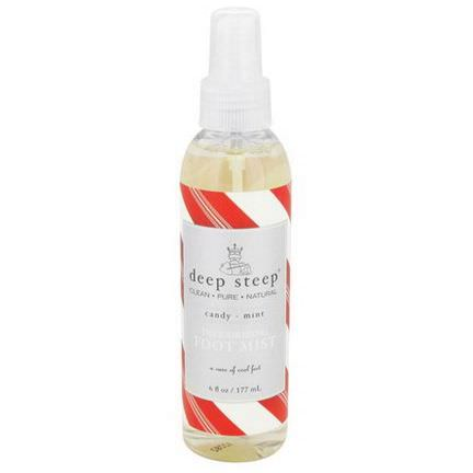 Deep Steep, Deodorizing Foot Mist, Candy - Mint 177ml
