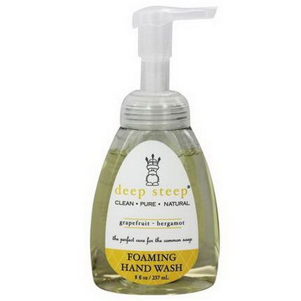 Deep Steep, Foaming Hand Wash, Grapefruit-Bergamot 237ml