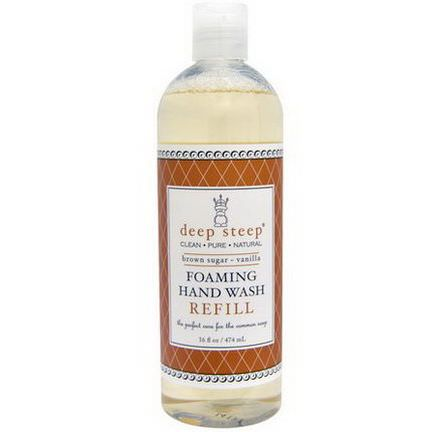 Deep Steep, Foaming Hand Wash, Refill Brown Sugar Vanilla 474ml