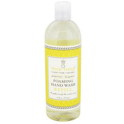 Deep Steep, Foaming Hand Wash Refill, Grapefruit - Bergamot 474ml