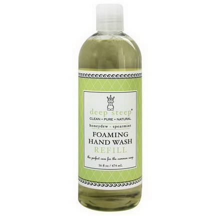 Deep Steep, Foaming Hand Wash Refill, Honeydew-Spearmint 474ml