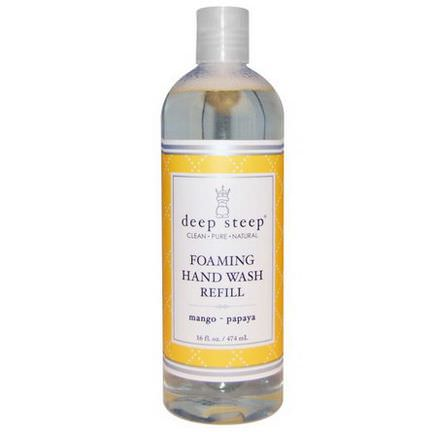 Deep Steep, Foaming Hand Wash Refill, Mango - Papaya 474ml