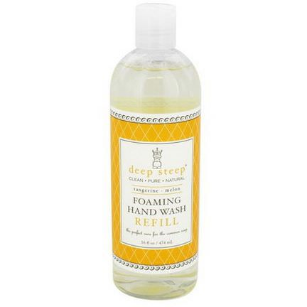 Deep Steep, Foaming Hand Wash, Refill, Tangerine-Melon 474ml